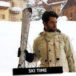 Look para um dia de Ski