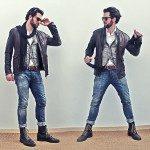 ESTILO T | Jaqueta de Couro e Colete Jeans