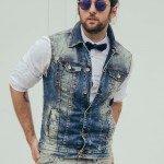 ESTILO T | Look com Colete Jeans e Gravata Borboleta