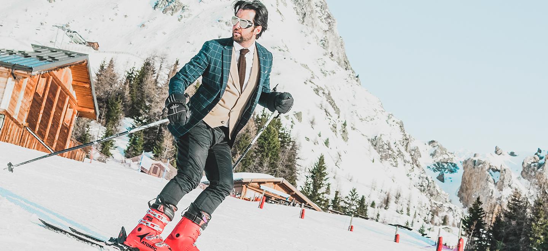Editorial – Ski de Terno na Neve com Estilo